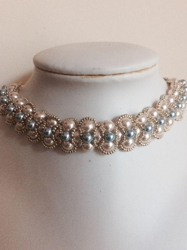 Zelkova Beads Swarovski Pearl Seed Beads $100