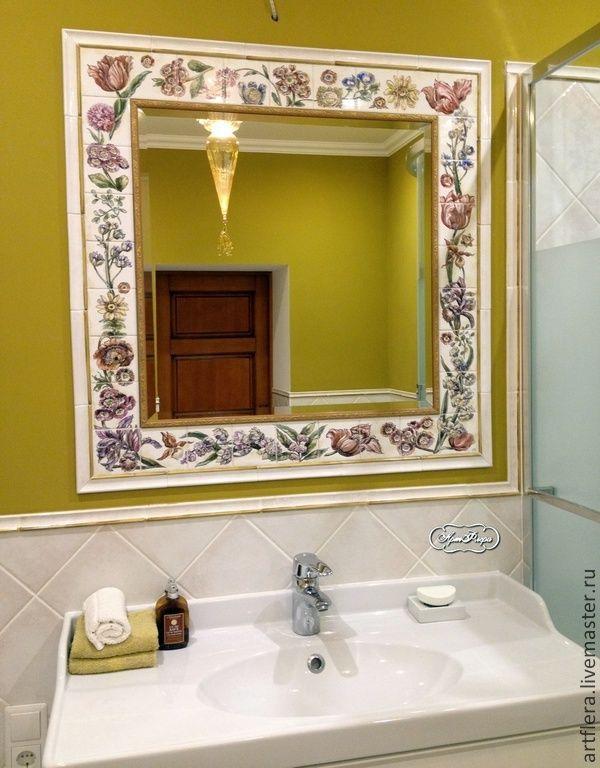 """Купить Зеркало """"Март"""" - разноцветный, зеркало, зеркало настенное, зеркало ручной…"""