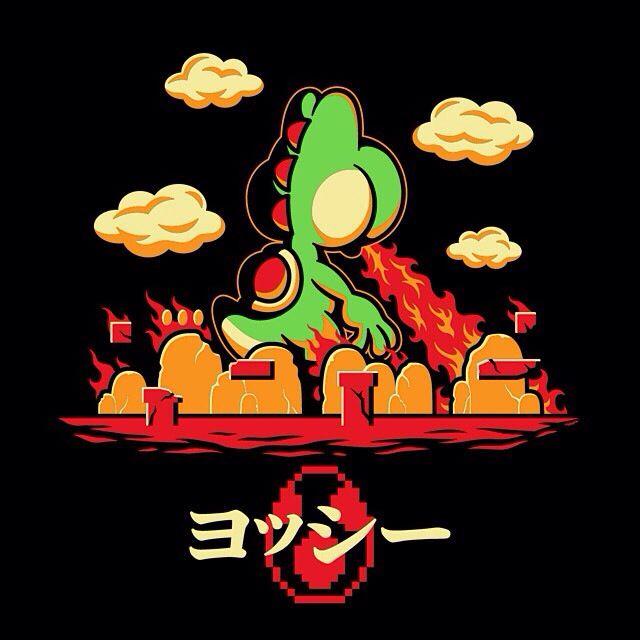 Yoshzilla. Cool tshirt for Yoshi / Super Mario World and Godzilla fans. If Yoshi…