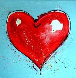 Trouwkaart met hartjes: Groot rood getekend hart op blauwe achtergrond. Kies de kaart, pas de tekst aan en vraag een gratis proefdruk op (je betaalt zelfs geen verzendkosten!). http://www.trouwpost.nl/trouwkaarten/hartjes/
