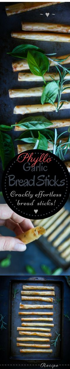 How to make Phyllo Garlic Bread Sticks