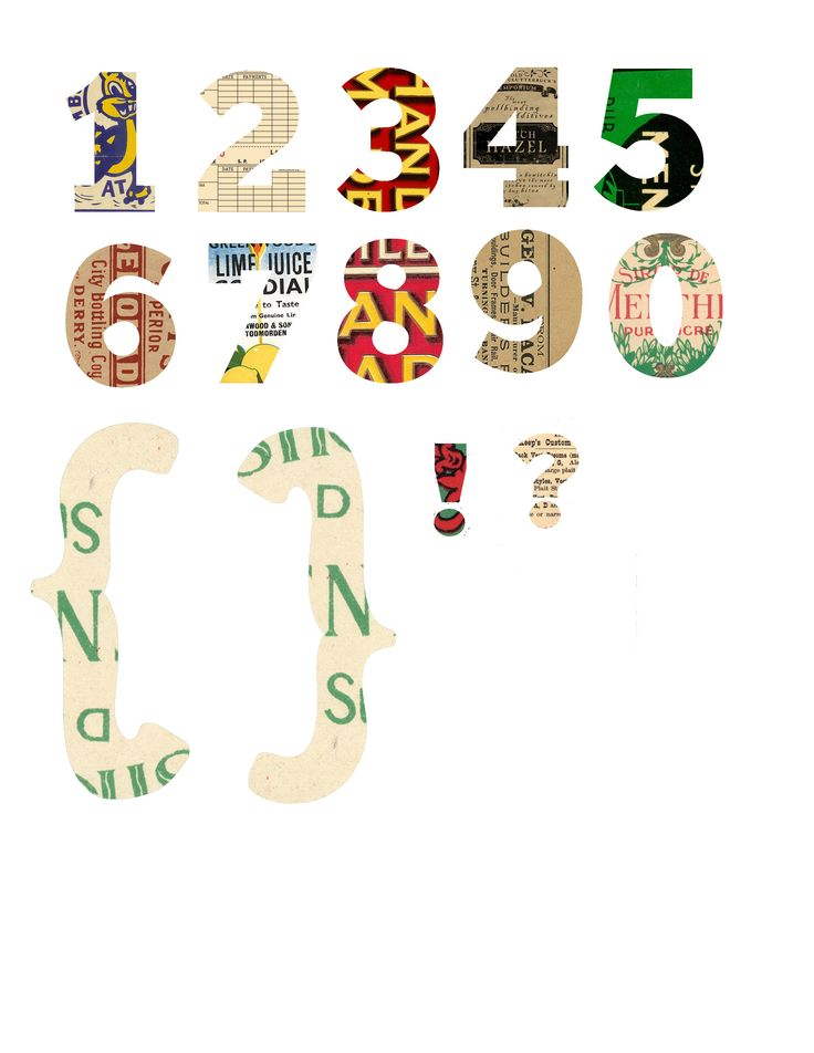 Free printable numbers from Creative Clown.