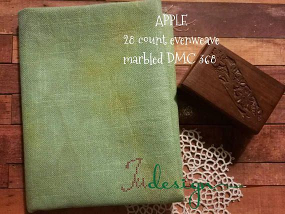 Hey, I found this really awesome Etsy listing at https://www.etsy.com/listing/549253022/28-count-apple-hand-dyed-evenweave-for