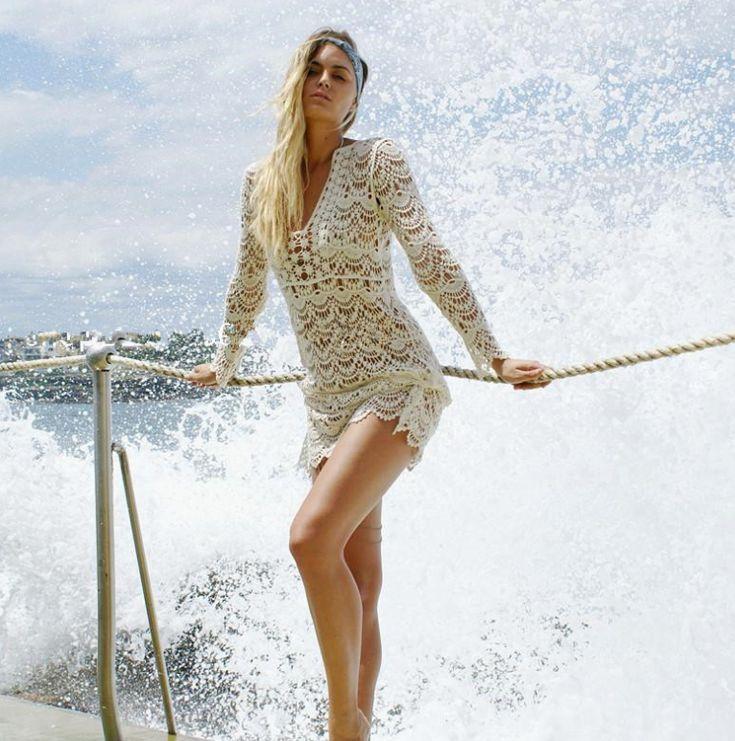 Sexy bikini Beach cover-up swimwear shirt 9