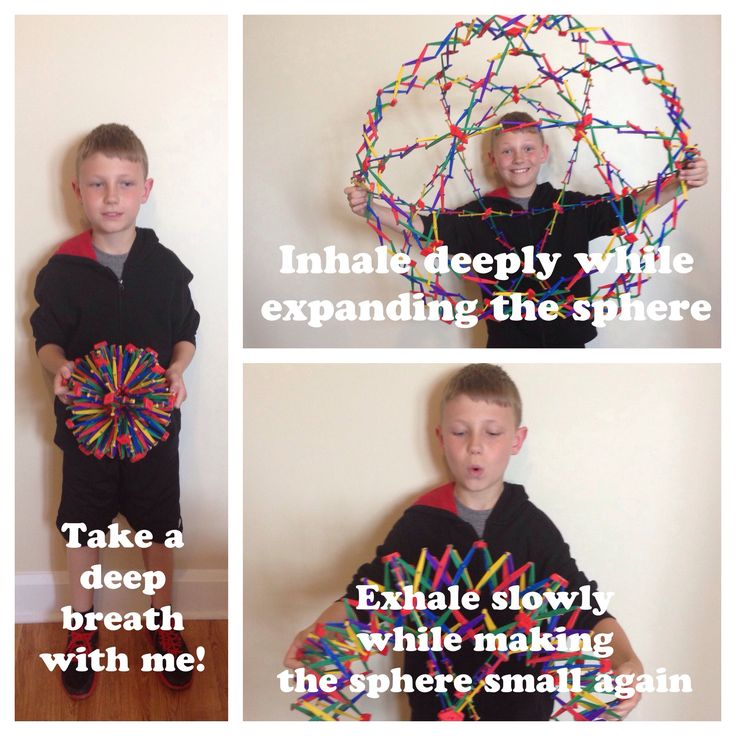 The breathing sphere! Teach children deep breathing and the impact on their brain through play therapy! #mindfulness #counseling