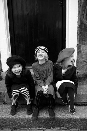 //: Girls Laughing, Photos, Happy, Friendship, Beret, Smile, Laughter, Photography, Kid