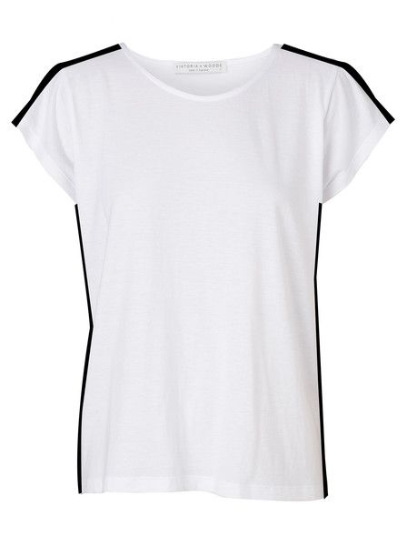 VIKTORIA & WOODS - Fallen Tee - White - Black Trimming  $179.90