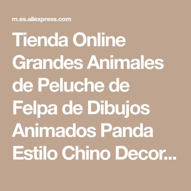 Tienda Online Grandes Animales de Peluche de Felpa de Dibujos Animados Panda Estilo Chino Decorativo Almohadas Decoran Cojín Grande Colchoneta Cama Niño Colchón   Aliexpress móvil