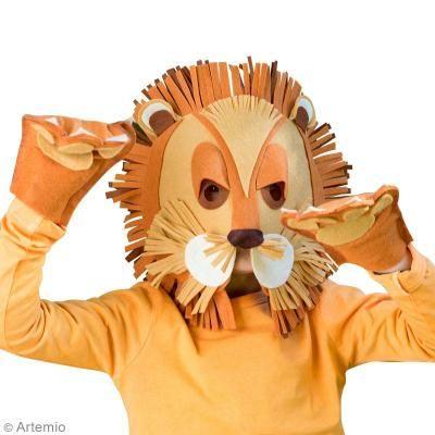 DIY Carnaval máscara león