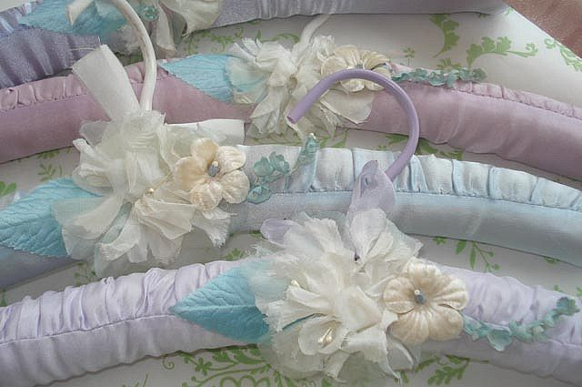 Shabby Chic Clothing Hangers  by such pretty things, via Flickr