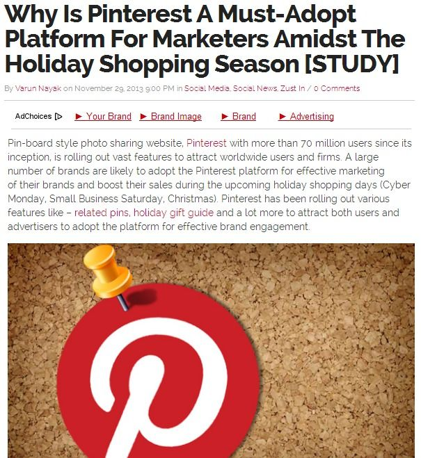 An In Depth Study On Why Pinterest Is A Must-Adopt Platform For Marketers Amidst The Holiday Shopping Season [STUDY]