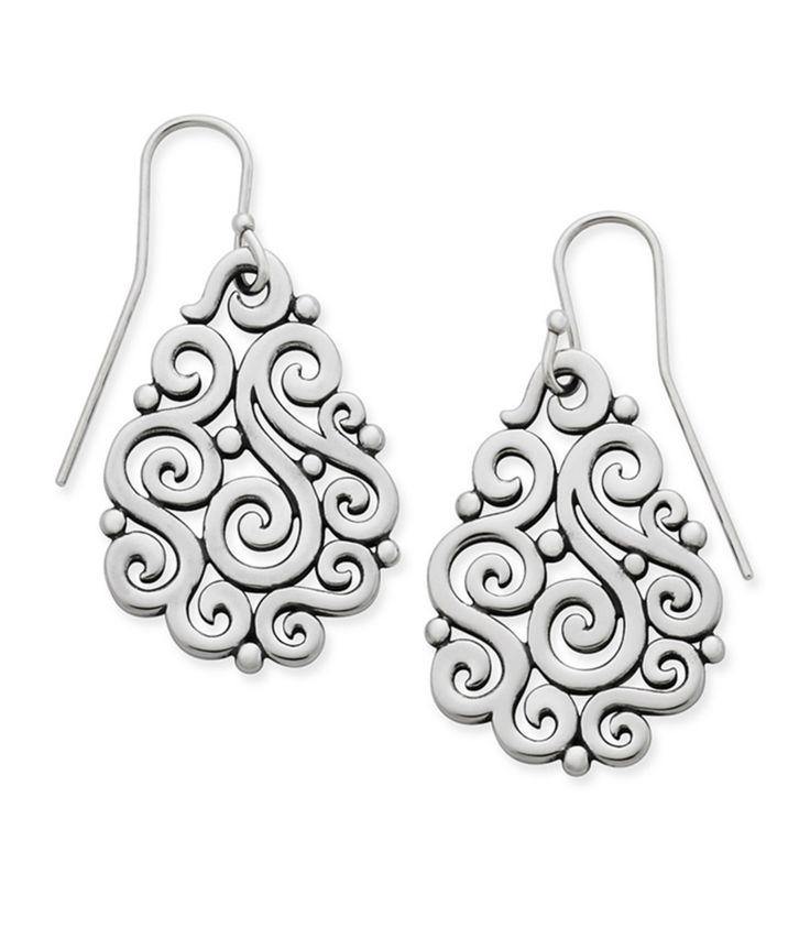 James Avery Open Sorrento Sterling Silver Drop Earrings #Dillards