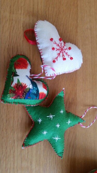 Embroidered Christmas decorations