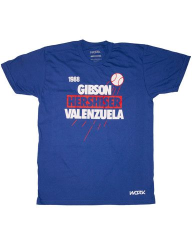 New Release! 1988 Gibson Hershiser Valenzuela – WORK Clothing Brand  $24.99
