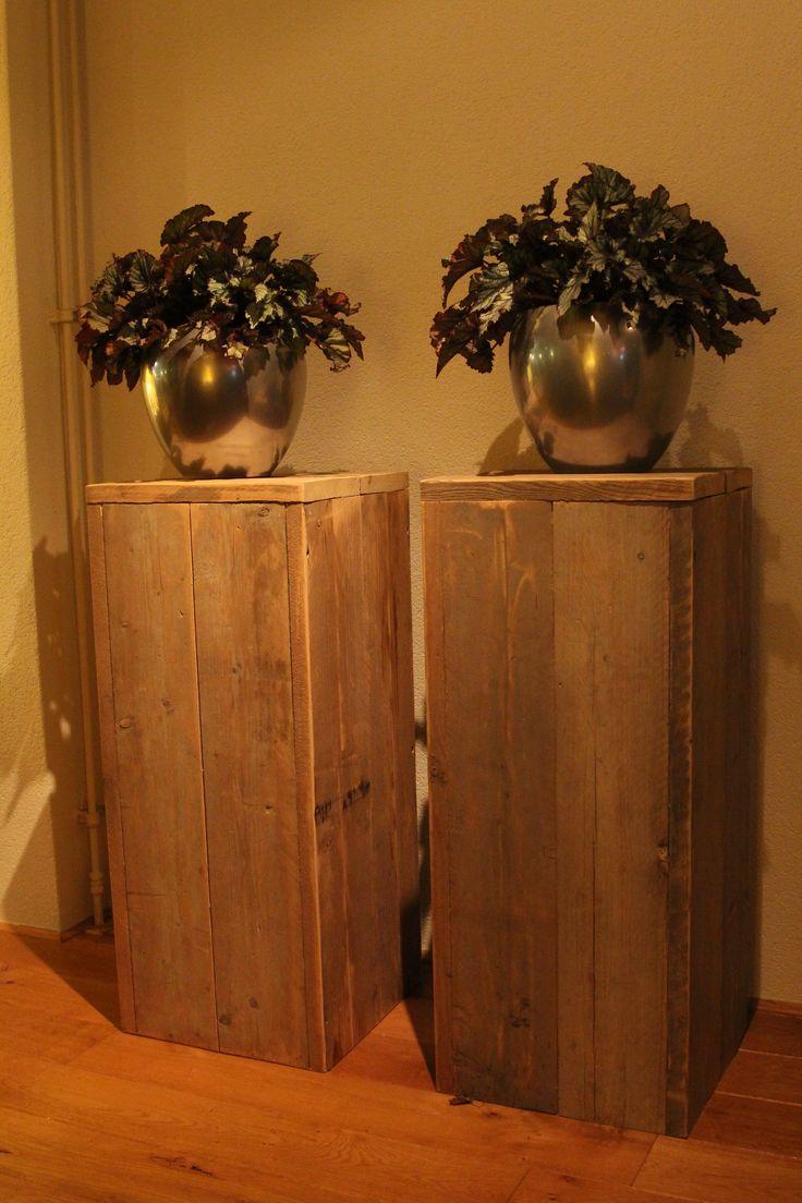 Plantentafels van oud steigerhout Gemaakt en gefotografeerd door Leen de Ruiter