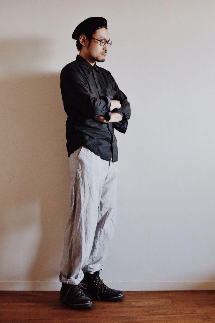 カンゴールのベレー帽をコーディネート。  http://www.lion-do.jp/mall/products/detail.php?product_id=35  #ファッション #帽子 #メンズ #コーディネート #コーデ #ハット #カンゴール #ブーツ #ベレー #ベレー帽 #メガネ #眼鏡 #今日の服 #hat #kangol #beret #men #mens #coordinate #snap #japanese #japan #instafashion #look #olivergoldsmith #boots