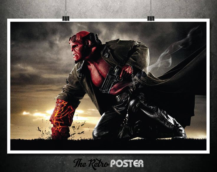Hellboy - Good Samaritan, Hellboy Movie Poster, Comic Book Art, Man Cave Decor, Hellboy Print, Superhero Wall Art, Film Prints, Film Gifts by TheRetroPoster on Etsy