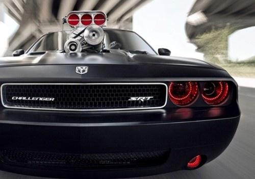 Custom Dodge Challenger Srt8 In Matte Black With Red