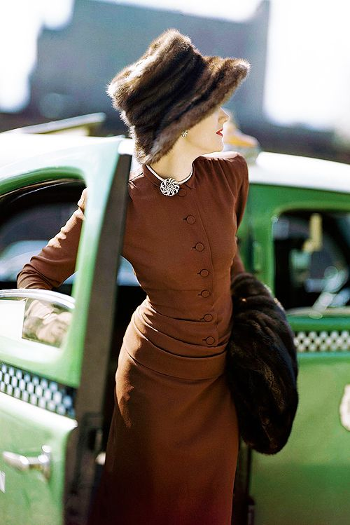 Vogue, 1945. Photo by Constantin Joffé - Now that is style with a capital S!