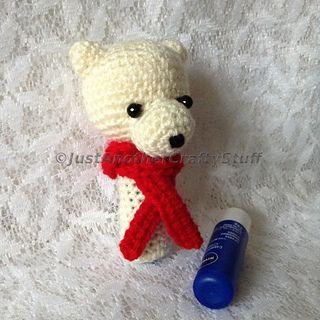 61 best polar bear crochet patterns images on pinterest crochet polar bear lip balm cozy pattern by somruthai maugard dt1010fo