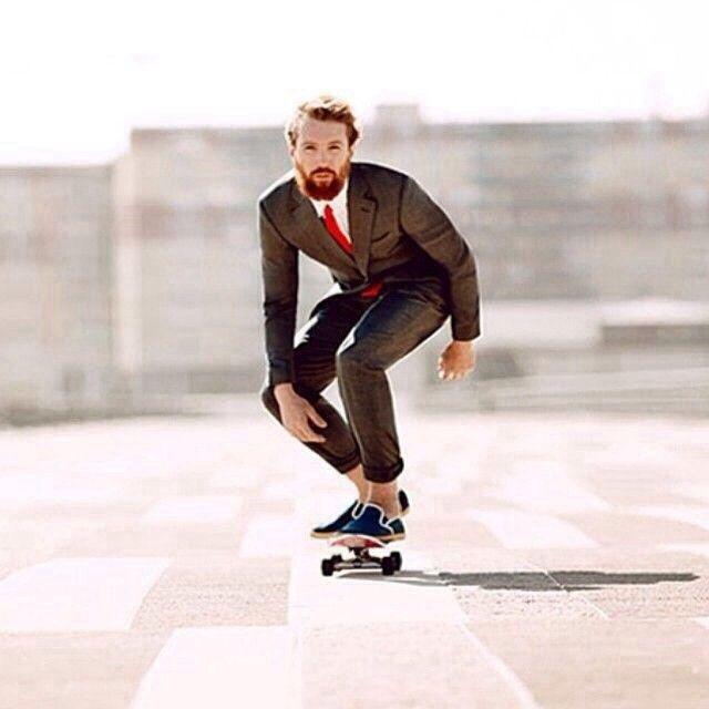 I think longboarding gives me a James Bond look.