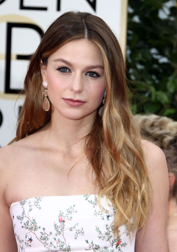 Melissa Benoist at the 2016 Golden Globe Awards. http://beautyeditor.ca/2016/01/12/golden-globes-2016