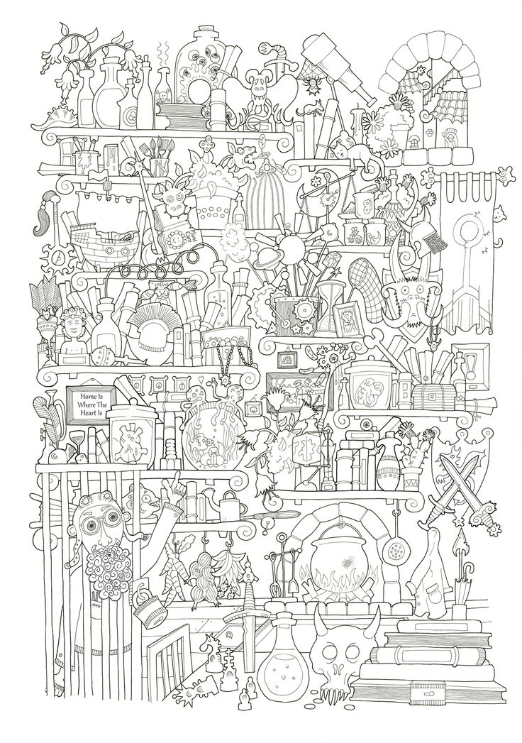 """""""Once Upon a Crime"""" An inked illustration for the second page of a fantasy/detective/story book, the final piece will be coloured, which I'm working on at the moment. The concept is that you are a city guard having to help people and solve crimes. In this particular illustration a crazy scientist has managed to lock himself in his own cage and you have to find the key."""