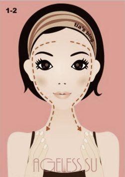 Когао-массаж ZOGAN (Асахи) для лица в GIF-анимациях (Ю Танака)