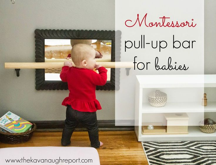 DIY Montessori Pull-up Bar -- Only $10 and perfect for any infant space