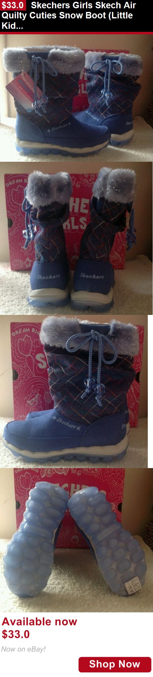 Children girls clothing shoes and accessories: Skechers Girls Skech Air Quilty Cuties Snow Boot (Little Kid Size 12) BUY IT NOW ONLY: $33.0