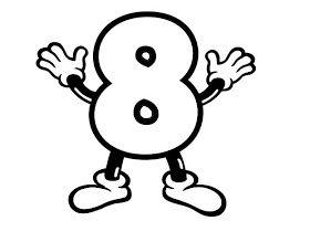 Números para colorir pintar 8