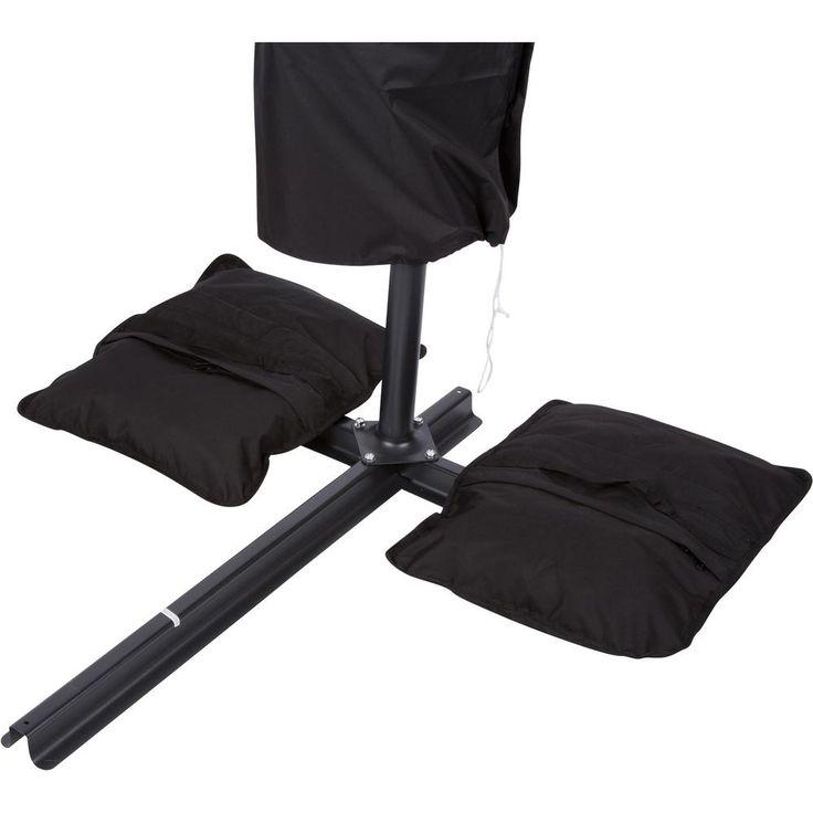 Trademark Innovations Saddlebag Style Sand Weight Bag Patio Umbrella Base in Black (Single Unit)