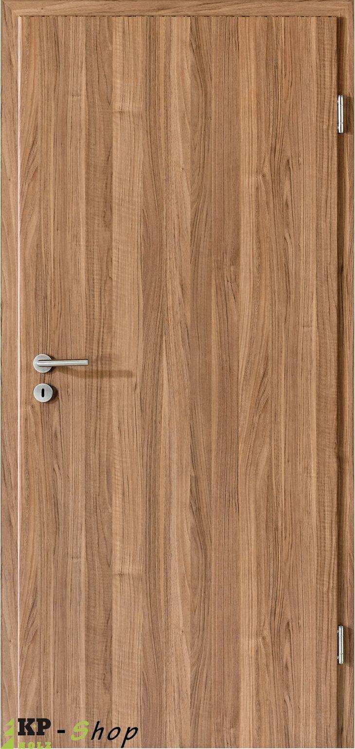 Zimmertüren online in einem schönen Nussbaum Ton. Modern und zugleich rustikal. Unser Angebot enthält Türblatt und Zarge.