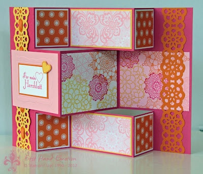 Stampin' UP! Delicate Doilies Duftes Dutzend Tri Shutter by First Hand Emotion: Delicate Doilies, Hands Emotional, Shutters Cards, Cards Tags, Cards Inspiration, Cards 1, Kart Popup, Cards 3D, Doilies Duft