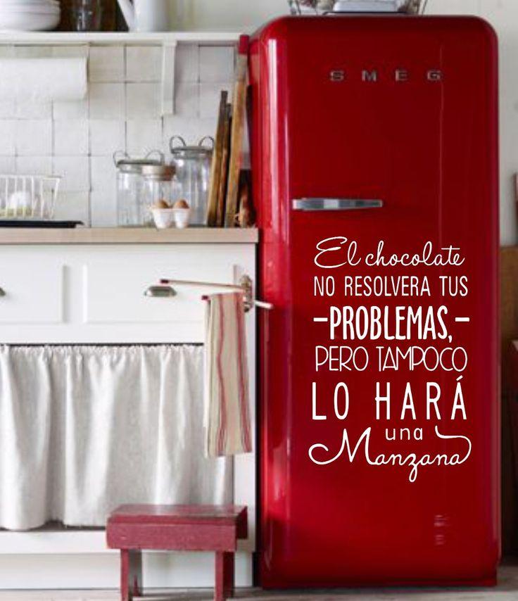 vinilos decorativos heladeras frases personalizados y más!