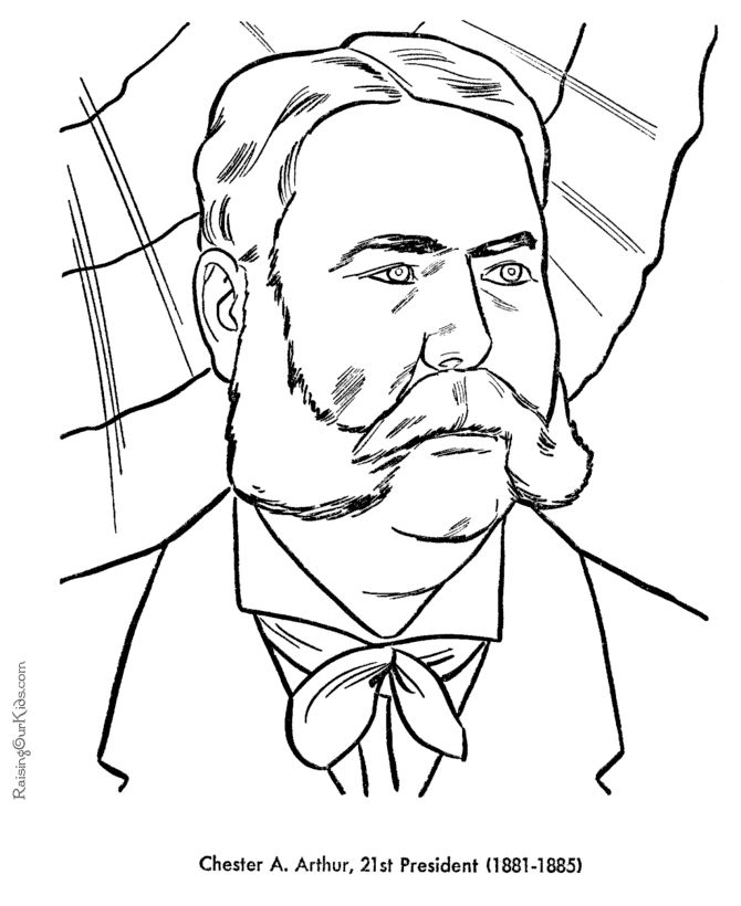 Free Printable President Chester A Arthur Coloring Pages
