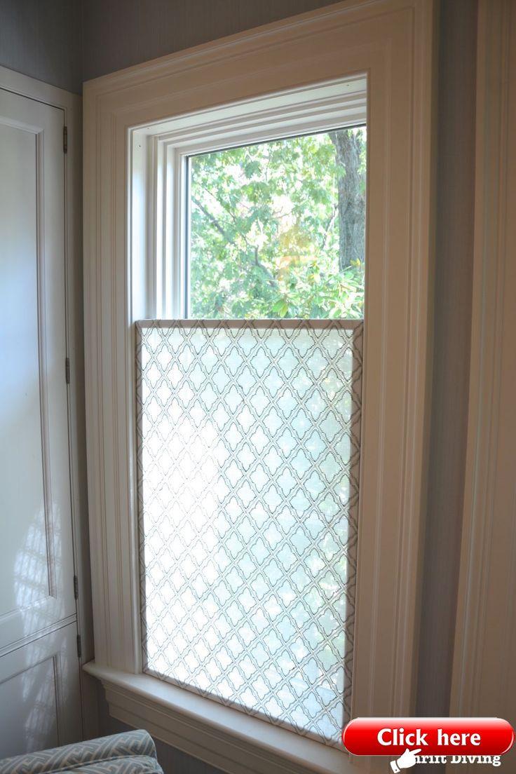 Wie Erstelle Ich Ein Hübsches Diy Fenster Sichtschutz Bad Fenster Vorhänge Badezimmer Ohne Fenster Sichtschutz Fenster