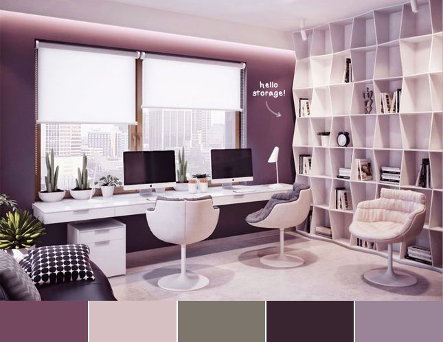 Purple  Modern office techlovedesign Going to be my office
