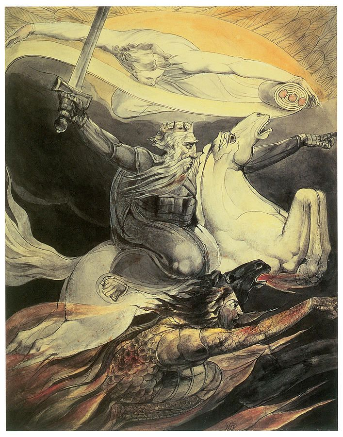 #gothic fantasy. Death on a Pale Horse, William Blake