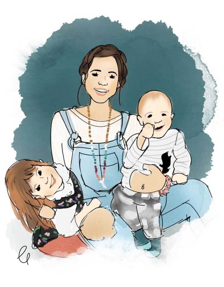 Custom family portrait illustration by chelsdrawsyou #familyportrait #customportrait