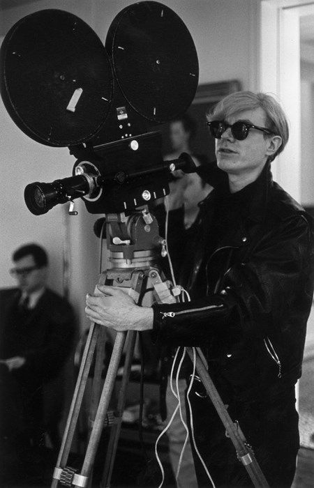 The Factory, New York, 1968. Andy Warhol filming.