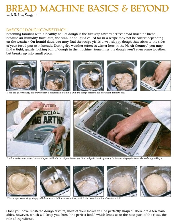 Just what I needed for knowing the basics of bread machine recipes