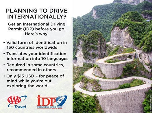 Your International Driving Permit speaks the language — even if you don't!  Go to AAA.com/vacation/idpf.html for details on how to obtain your IDP. #aaa #travel #safety