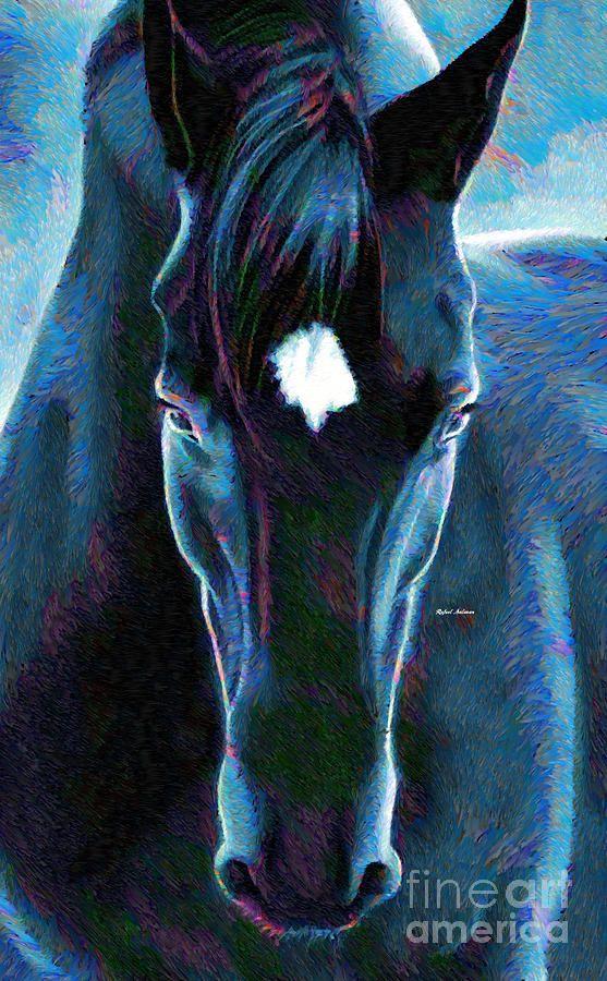 Stallion Digital Art by Rafael Salazar