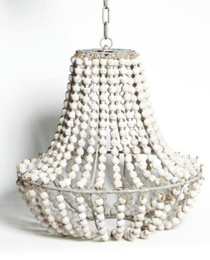 Ball Chandelier - Whitewash – Allissias Attic & Vintage French Style