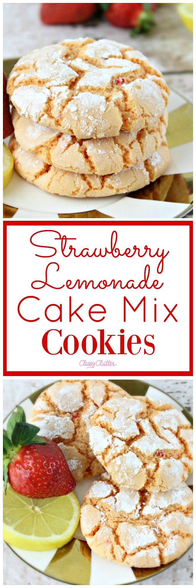 A perfect treat! These strawberry lemonade cake mix cookies are so good! Try them out!