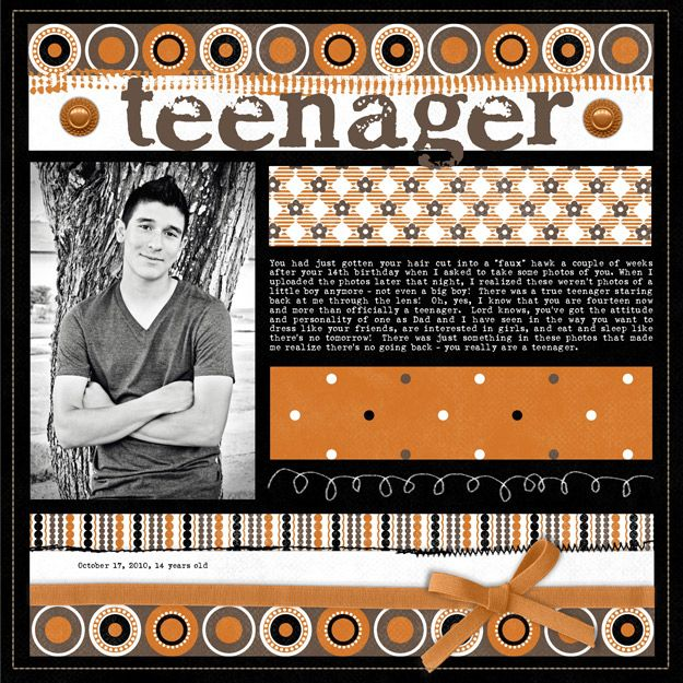 This is really a great focused desiigned page on maybe one of the most unfocused subjects - teenager