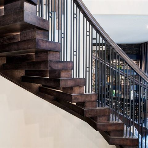 Staircase by Specialized Stair and Rail - Parts Available at House of Forgings #stairs #staircase #wood #iron #design #interiordesign #craftsman #contemporary #modern #love #style #traditional #handrail #rail #art #photo #photography #photooftheday #insta #home #house #instadaily #instagram #instagood #architecture #archilovers