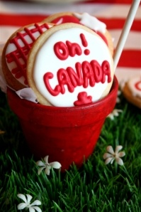 Canada Day cookie centerpiece