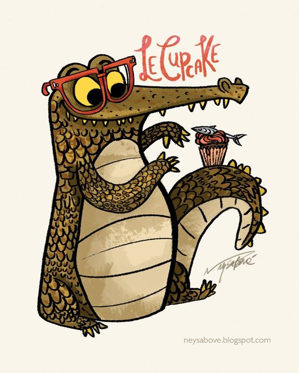 The cupcake croc by Neysa Bové